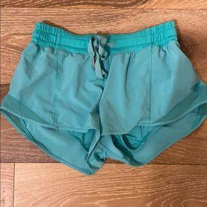 Teal/ blue Lululemon shorts